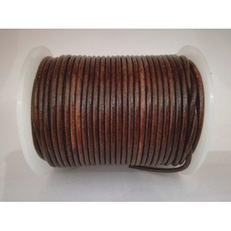Lacet antique brun 2mm