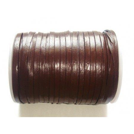 Lanière de cuir brun