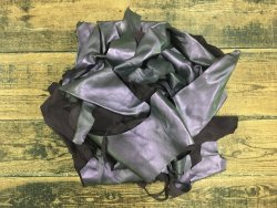 Chutes de cuir métallisé violet