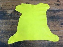 peau de cuir de chèvre jaune maroquinerie cuir en stock
