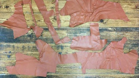 morceaux de cuir de veau camel maroquinerie ameublement Cuirenstock