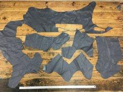 morceaux de cuir de veau gris maroquinerie ameublement Cuirenstock