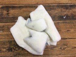 chutes mouton lainé blanc maroquinerie chausson bébé cuir en stock