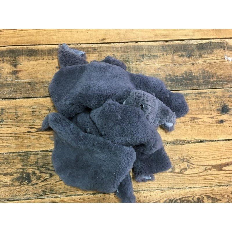 chutes de cuir mouton laine gris accessoire chausson cuir en stock