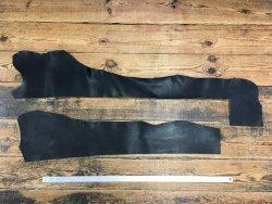 morceaux de cuir de vache naturel huilé noir maroquinerie cuir en stock