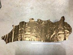 Bande de cuir de veau bronze