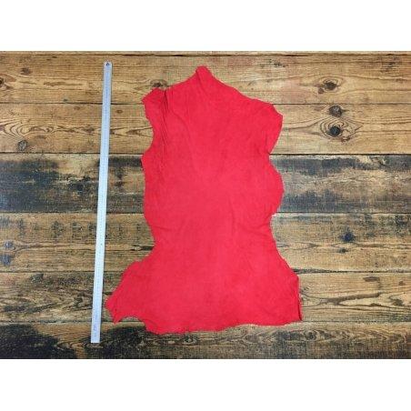 Agneau velours rouge