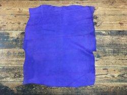 peau de porc velours ciré violet cuir en stock