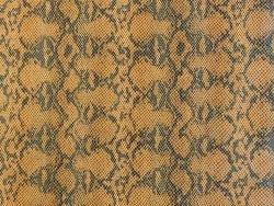Morceau de cuir de vache grain serpent brun