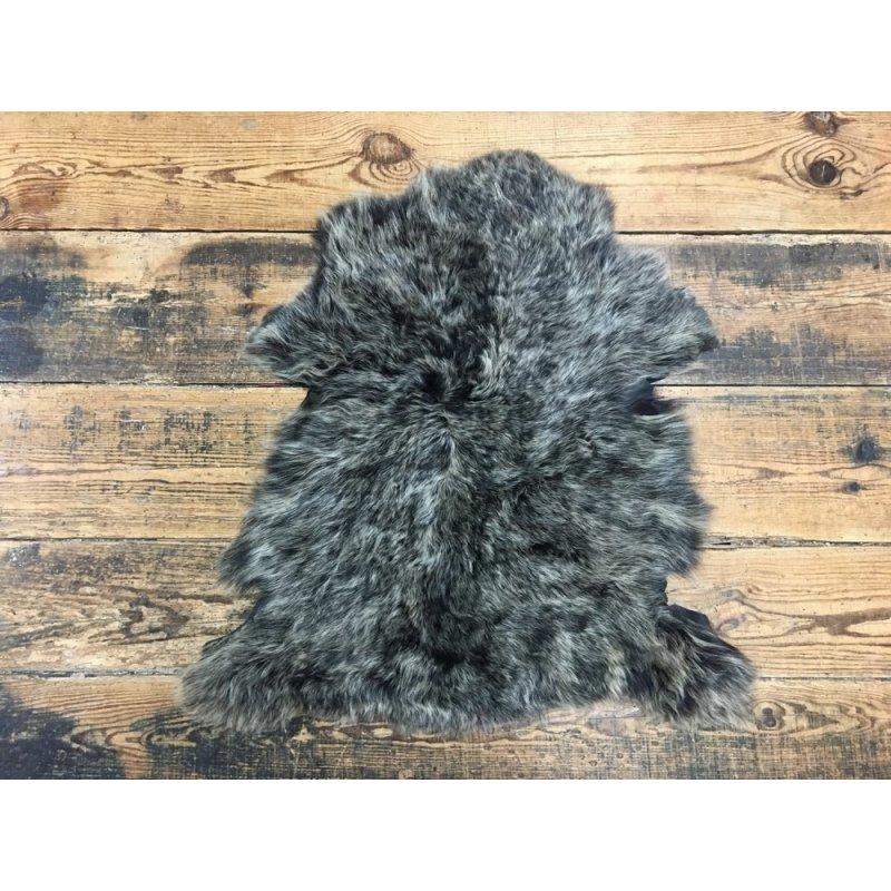 Peau d'agneau toscane laine brun cuir en stock