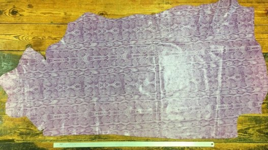 grand morceau de cuir de vache violet mauve cuirenstock