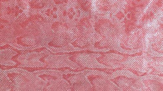 cuir fantaisie grain serpent rose cuirenstock