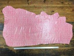demi-peau cuir de vache grain fantaisie serpent rose cuirenstock