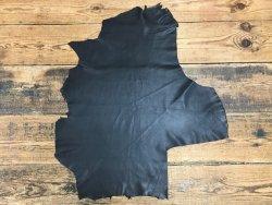 morceau cuir agneau noir nappa classique vêtement cuirenstock
