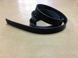 Bande de cuir 130 cm noir