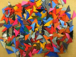 Assortiment de petites formes en cuir - Triangle - Cuir en Stock