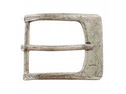 Boucle ceinture argent vieilli - 38mm