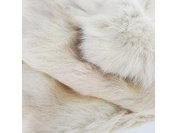 Cuir peau de lapin en poil Cuir en Stock Beige