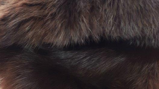 Cuir peau de lapin en poil Cuir en Stock Brun