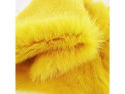 Cuir peau de lapin en poil Cuir en Stock Jaune