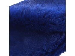 Cuir peau de lapin en poil Cuir en Stock Bleu électrique