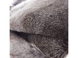 Cuir peau de lapin en poil Cuir en Stock Chinchila