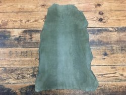 cuir agneau nubuck vert kaki stretch vêtement Cuirenstock