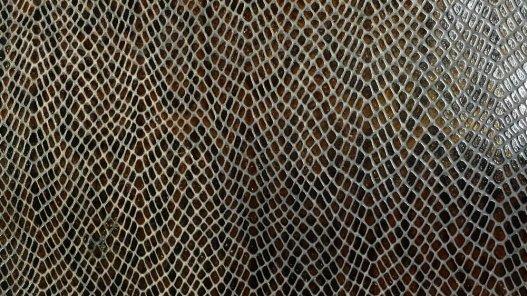 morceau cuir de vache  grain serpent couleur marron cacao cuirenstock