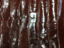Peau de crocodile brun cognac