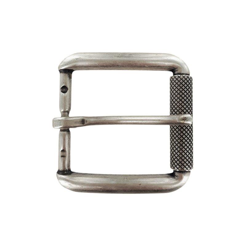 pas cher où puis je acheter en gros Boucle de ceinture à rouleau laiton argent vieilli 35 mm