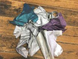 chutes cuir divers métallisé nacré couleurs cuir en stock