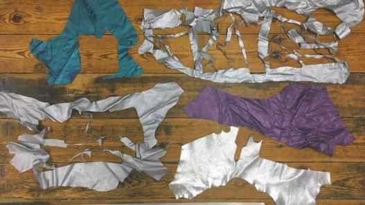 morceaux cuir divers métallisé nacré couleurs maroquinerie accessoire Cuir en stock