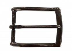 Boucle ceinture rectangulaire laiton noir laqué 35 mm