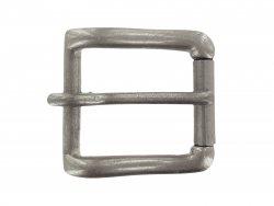 Boucle ceinture à rouleau laiton argent 33mm