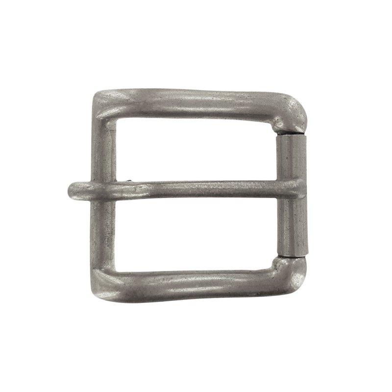 factory New York prix réduit Boucle de ceinture à rouleau laiton argenté 33 mm