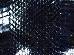 Peau de cuir de serpent bleu marine