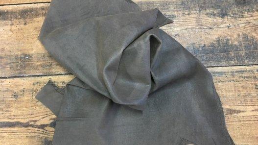 cuir stretch nubuck ciré brun cuirenstock