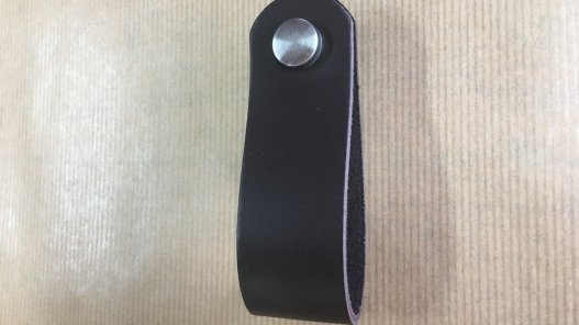 poignée en cuir pliée de qualité double croupon cuirenstock