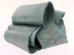 Peau de cuir de cobra bleu melville
