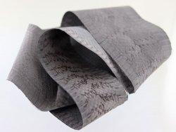 Peau de cuir de cobra gris acier