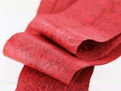 Peau de cuir de Cobra - Rouge