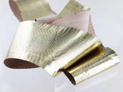 peau de cuir de serpent exotique métallisé doré or cuirenstock vente