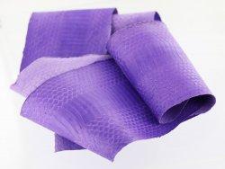 vente cuir peau de serpent exotique violet parme lilas cuirenstock