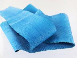 véritable peau de serpent exotique vente de cuir bleu mat cuirenstock