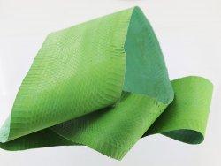 peau de cuir de serpent vert mat cuir en stock eshop