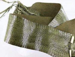 peau de serpent véritable vert kaki cuir exotique vente en ligne