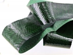 Peau de cuir de serpent - Vert sapin