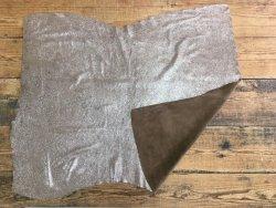 peau de veau velours pailleté châtaigne marron cuirenstock