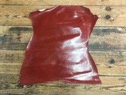 peau agneau vernis rouge rouille cuir en stock