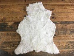 Peau de mouton laine blanc Cuir en Stock